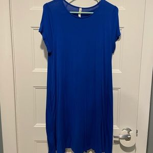Stretchy Royal Blue Dress with Pockets